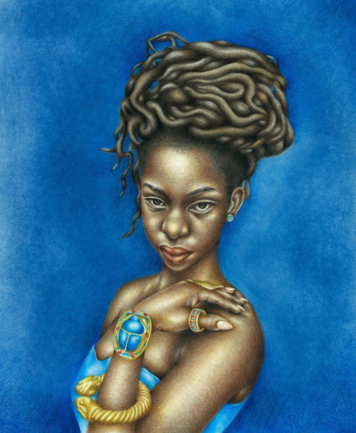 Artist Depicts Black Female Nudes as Ancient Egyptian Goddesses