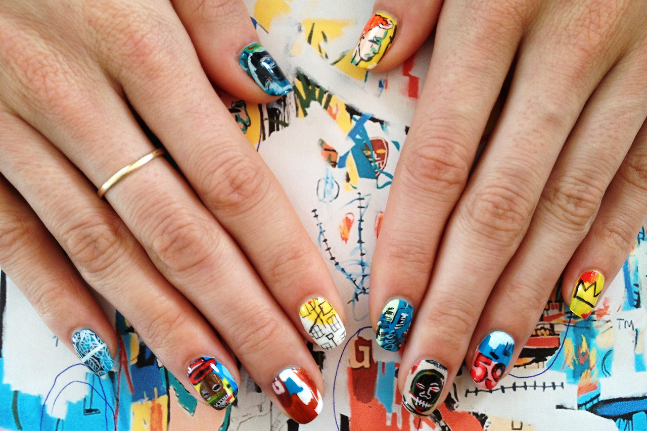 New site combines nail art and art history creators basquiat prinsesfo Gallery