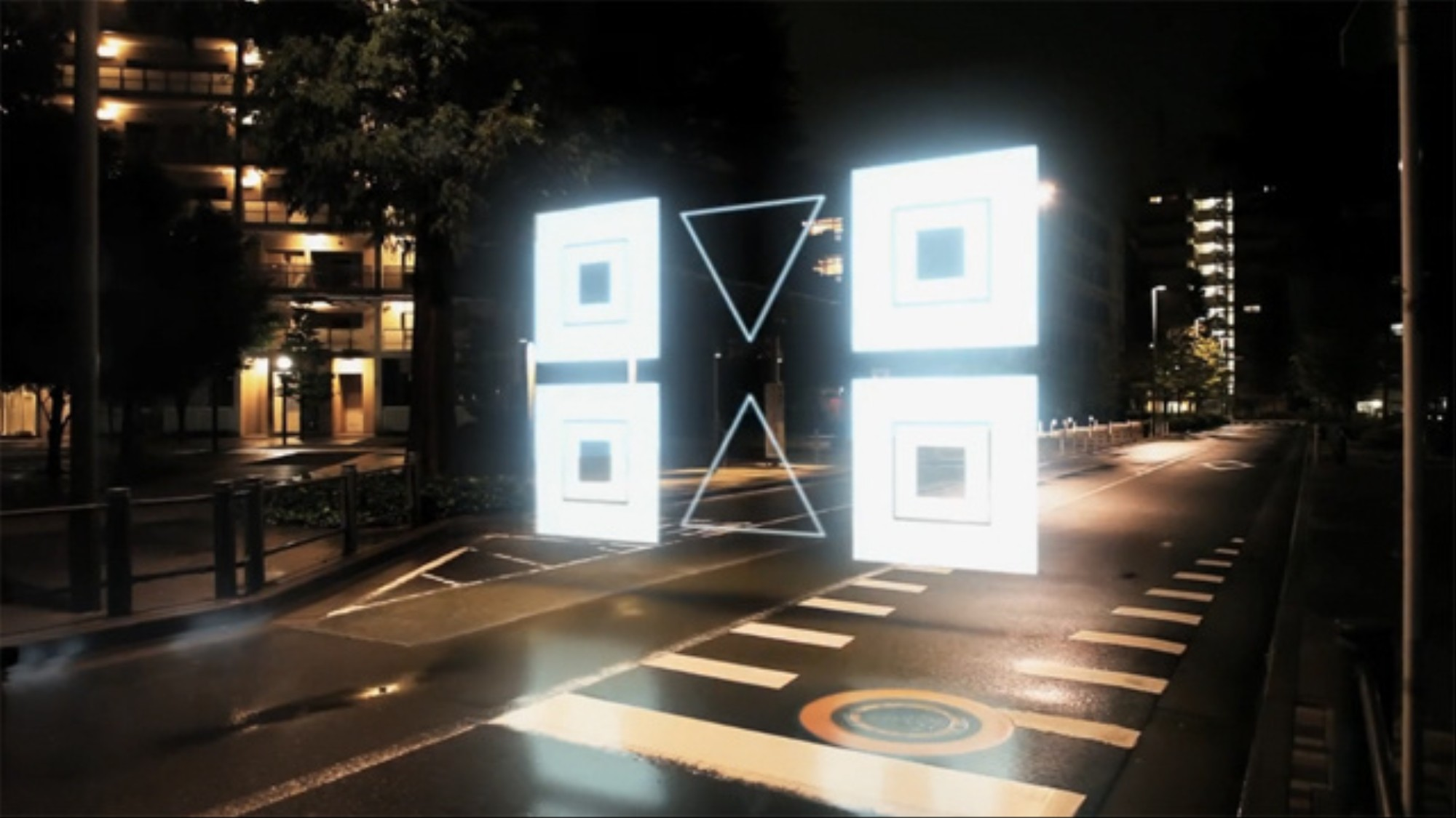 Toyko Flashes To Life With CG Shapes In Night Stroll VICE Delectable Night Stroll Tao Tajima