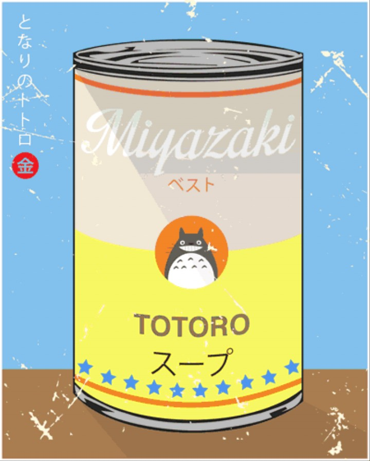 Miyazaki Meets Warhol in Reimagined Soup Can Series