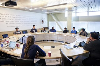 :Never Alone Pics:Early project strategy discussion, CITC offices, Anchorage.jpg