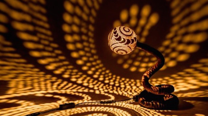 Shadow Lamps coconut lamps cover your walls in shadow art - creators