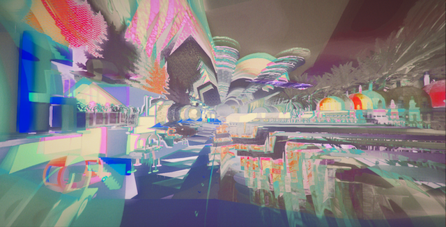 Enter A Virtual World Of Glitches And Iridescence To