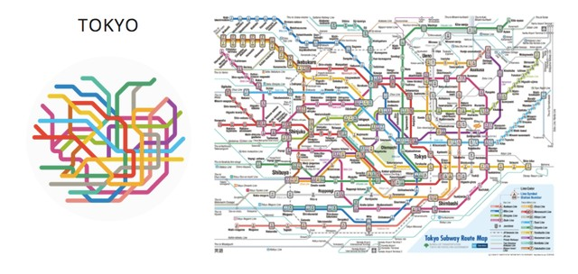 Tokyo Subway Map Art.Artist Creates Simple Beautiful Subway Maps For 100 Different