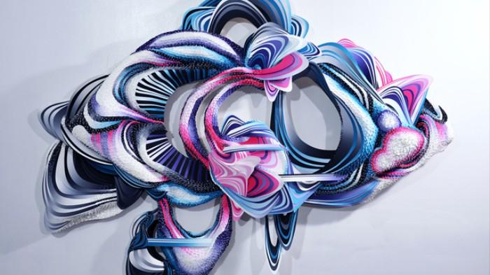 Flowering Alien Bio-Sculptures Burst from Walls