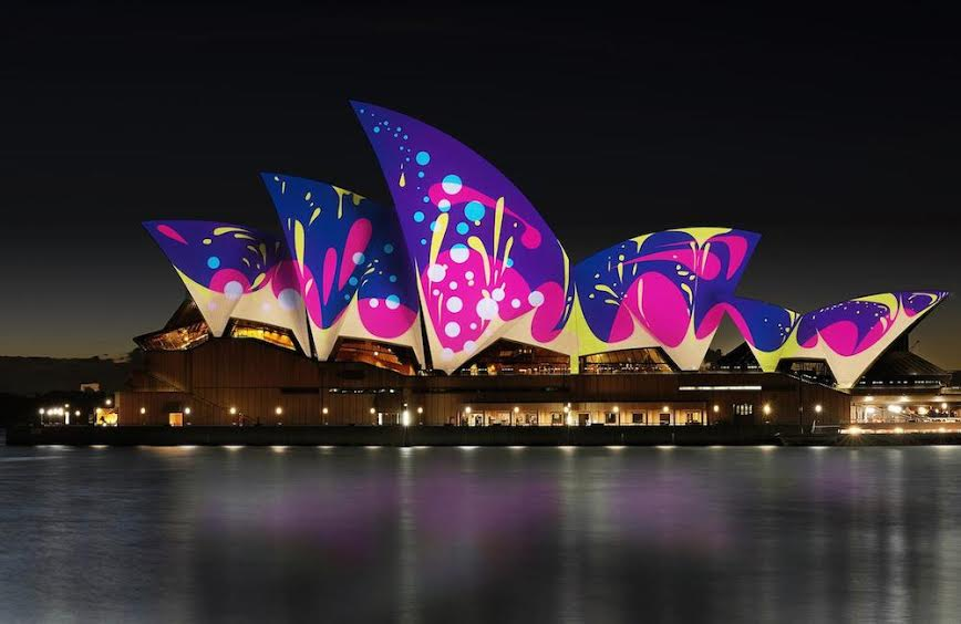 Sydney opera house projection mapping