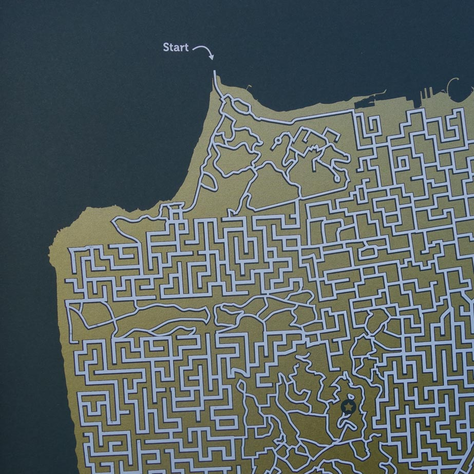 Get Lost in Mazes Made from Famous City Maps Creators
