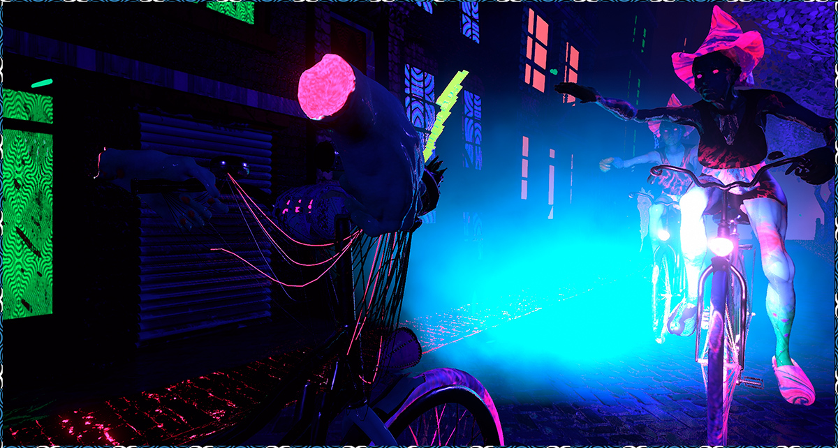 Fight Off Banshee Bikers in a Neon Dystopian Video Game - VICE