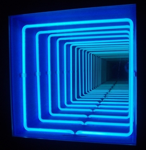 pioneering light artist paolo scirpa 39 s infinite neon loops