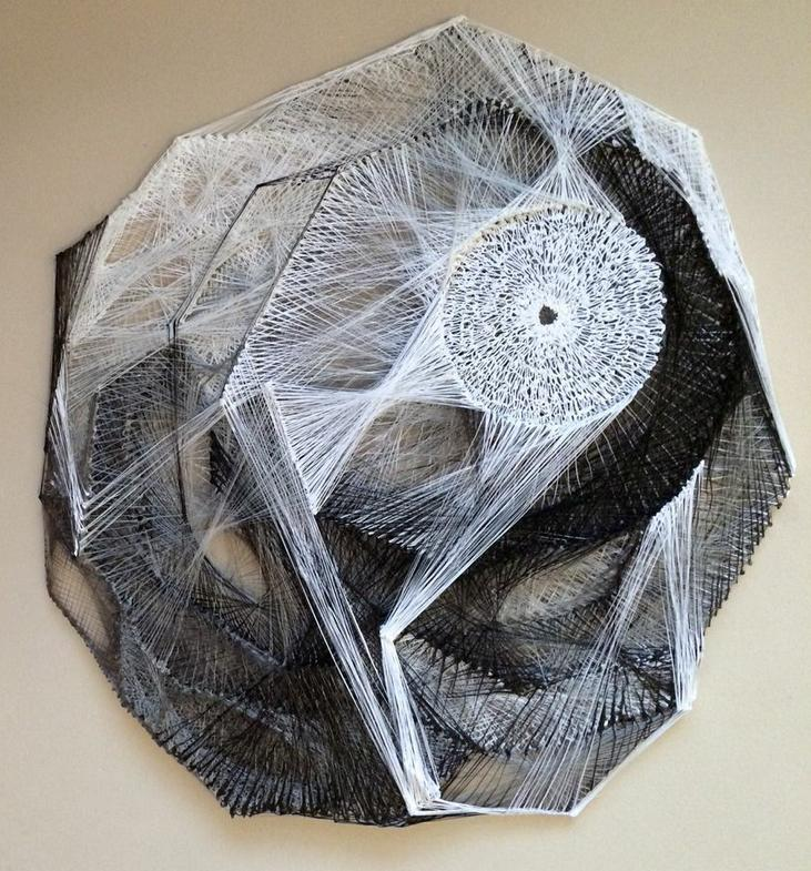 Artist weaves giant spider web with 3d printing pen creators for Artiste creation
