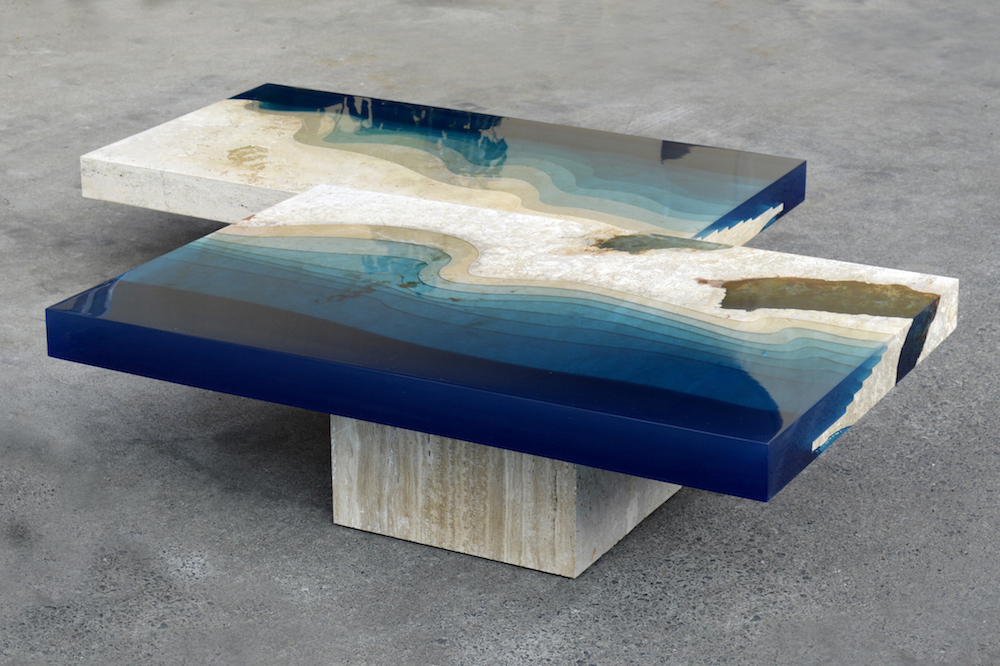 A River Runs Through These Marble Resin Tables Vice